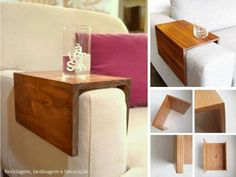 DIY Wooden Couch Sleeve Seriously need one or two of these for my living room. I currently have to haul out a tv table anytime I want to sit and sip anything. Source by MissMoonQueen The post DIY Wooden Couch Sleeve appeared first on My Art My Home. Small Living Rooms, My Living Room, Living Room Furniture, Living Room Designs, Living Room Decor, Diy Furniture, Furniture Plans, Antique Furniture, Diy Sofa