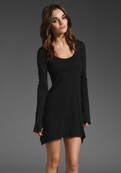 Bobi Light Weight Jersey Tunic in Black