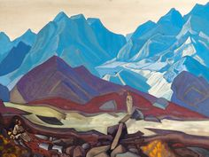 From Beyond - Nicholas Roerich Color, line, shape, spiritual themes, subtlety --- love everything about it.