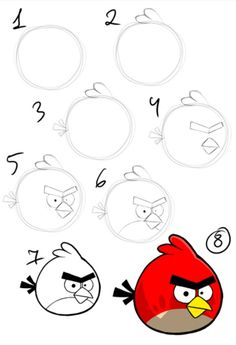 Draw the red angry bird