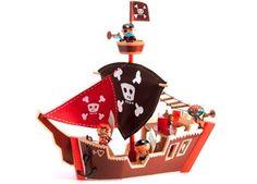groots houten piratenschip DJECO | kinderen-shop Kleine Zebra