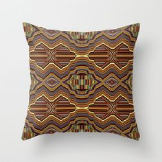 Abstrato laranja Throw Pillow by Sandra Betinassi - $20.00