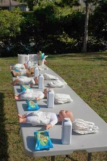 Diaper Changing Relay Race