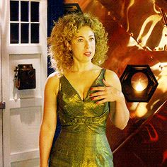The only water in the forest is the River, river song meme→ Six Outfits The Dress Doctor Who Actors, Doctor Who 2005, Doctor Who Tumblr, I Am The Doctor, Eleventh Doctor, Doctor Who Companions, Alex Kingston, Tv Girls, Steven Moffat