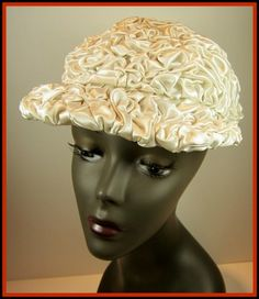 78fb2c7f7e3 Great Gatsby antique ruched wedding hat