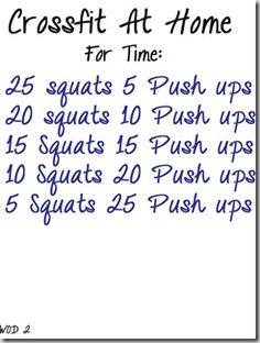 A few different daily routines.  These seriously made me out of breath.  CrossFit on the Fly