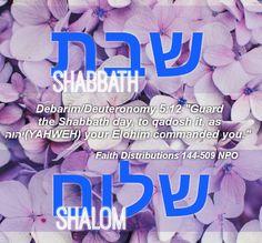 Shabbath Shalom