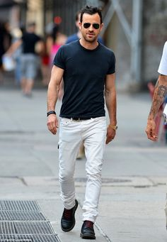 Cool spring white jeans outfits for men (11)