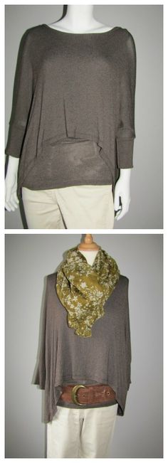 Give a basic double layer top the wow factor with a big scarf and belt. Find more inspiration at love lagenlook clothing.com Wow Factor, Layered Tops, Wow Products, Photo Editing, Belt, Blouse, Clothing, Inspiration, Women
