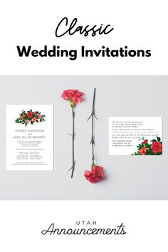 Are you looking for a traditional design for your wedding invitation? This classic wedding invitation with floral touches is perfect for you. This is a timeless design that will surely impress your guests. Wedding Invitation Trends, Typography Wedding Invitations, Classic Wedding Invitations, Invites, Bride Look, Wedding Announcements, One Design, Traditional Design, Timeless Design