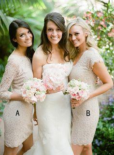 short bridesmaid dresses,lace bridesmaid dresses,wedding party dresses,elegant bridesmaid dresses @simpledress2480