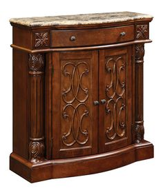Love this Marble-Top Two-Door Cabinet by Coast to Coast on #zulily! #zulilyfinds