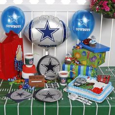 Getting supplies for a sports theme party is as easy as taking a trip to Party City, or if your local sports bar has Wi-Fi, then simply take your net book there, park yourself a table near a TV and shop on line while you chomp on wings and having a beer. The best thing about sports party supplies is that they're cheap.