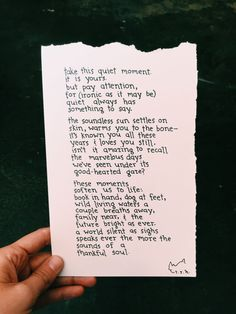 Poem: This Quiet Moment // NOTESONTHEWAY by NotesOnTheWay on Etsy