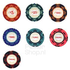 James Bond Casino Royale poker chips with Dollar denomination, play poker at home with the look, feel and sound of the real clay poker chips known from this famous casino.