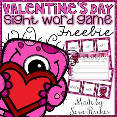 This Valentine's Day-themed Sight Word Game is so fun and engaging that your kids won't even realize that they are learning! It also includes a recording sheet where students can write 5 words of their choice in complete sentences.If you enjoy and use this freebie, please take the time to leave feedback!