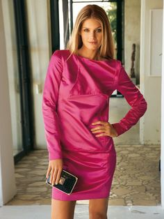 Long-sleeved Dress with Zipper Detail Burda Style 05/2011 #123