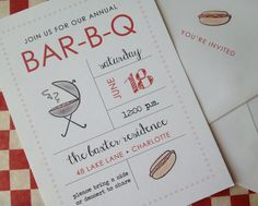 Fire Up the Grill  BBQ Invitations by AshleyKateDesigns on Etsy, $22.50