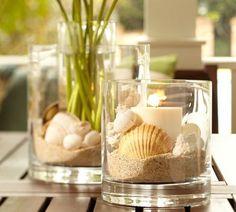candles, shells & sand