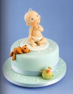 [Animation in Sugar] by carlos lischetti / 슈가케이크 모델링책 (슈가크래프트) Fondant Toppers, Fondant Cakes, Cupcake Cakes, Baby Boy Cake Topper, Baby Boy Cakes, Cake Topper Tutorial, Fondant Tutorial, Baby Shower Cakes For Boys, Sugar Cake