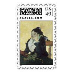 L'Arlesienne: Madame Ginoux by Vincent Van Gogh Postage Stamp