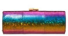 Jimmy Choo metallic rainbow clutch