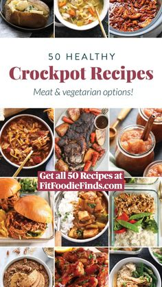 Healthy Slow Cooker, Healthy Crockpot Recipes, Crock Pot Slow Cooker, Crock Pot Cooking, Slow Cooker Recipes, Vegetarian Recipes, Cooking Recipes, Crockpot Meals, Crock Pots