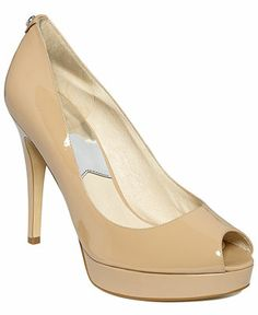 MICHAEL Michael Kors York Peep-Toe Platform Pumps - Pumps - Shoes - Macy's - $75 on sale - for the daring!  (Is the platform too much?)