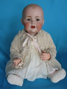 "Splendid Baby Jean J. Kestner ""Bald Head Baby"",incised JDK Made in Germany Divine lightly molde."