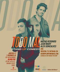"Jean Mary, Álex Goncalves y Nacho Redondo presentan ""Todo Mal"" Stand Up en Miami http://crestametalica.com/jean-mary-alex-goncalves-y-nacho-redondo-presentan-todo-mal-stand-up-en-miami/ vía @crestametalica"