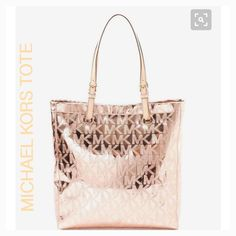Michael Kors Rose Gold Purse 💙💙💙 Hubby Bought It For Me