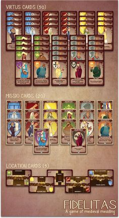 Fidelitas A Card Game Of Medieval Meddling For 2 4 Players By Jason