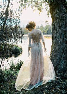 Romantic blush pink wedding dress | Antonova Kseniya Photography | see more on: http://burnettsboards.com/2015/12/romantic-bridal-session/