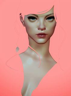 Kai Fine Art is an art website, shows painting and illustration works all over the world. Art And Illustration, Portrait Illustration, Digital Portrait, Portrait Art, Animation 3d, Digital Art Tutorial, Design Graphique, Arte Pop, Fine Art