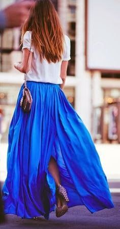 Gorgeous Flowing Full Maxi Skirt Outfit