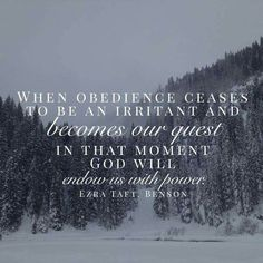 When obedience ceases to be an irritant...
