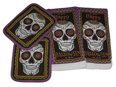 Sugar Skull Halloween Decorative Kitchen Set - Potholders and Dish Towels (4 Items) NDCLLC http://www.amazon.com/dp/B014DUGAMO/ref=cm_sw_r_pi_dp_rnRawb074PTME