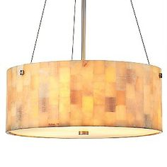Hudson drum pendant with onyx mosaic shade (dining option)