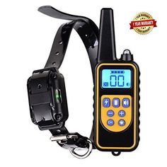 Dog training collar rechargeable and waterproof bark stop anti no barking devices with remote control sound vibration shock pet behavior collar for small medium large dogs 800 yards range (for 1 dog) Large Dog Crate, Large Dogs, Probiotics For Dogs, Indestructable Dog Bed, Dog Control, Build A Dog House, Wireless Dog Fence, Stop Dog Barking, Dog Shock Collar