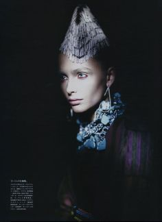 Snejana Onopka photographed by Paolo Roversi - Vogue Nippon: June 2008 - Waiting in the Shadow