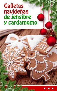 #Galletas #navideñas de #jengibre y #cardamomo