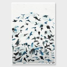Abstract Swallows Art Print by George Sand Studio - All Art Prints NZ Art Prints, Art Framing Design Prints, Posters & NZ Design Gifts | endemicworld