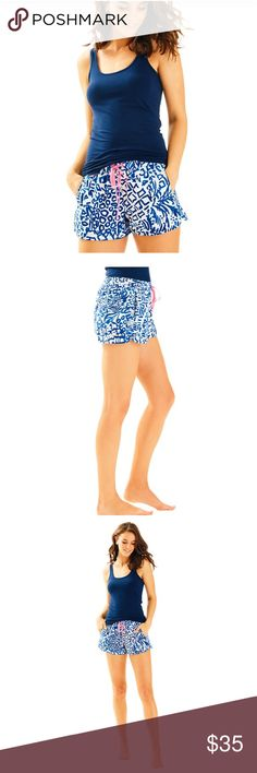 Lilly Pulitzer size S home slice luxletics shorts Lilly Pulitzer size small home slice luxletics shorts brand new with tags Lilly Pulitzer Shorts