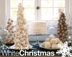 White Christmas Party // Hostess with the Mostess® Christmas Party Themes, Christmas Goodies, All Things Christmas, White Christmas, Holiday Parties, Christmas Holidays, Christmas Decorations, Christmas Ideas, Holiday Ideas