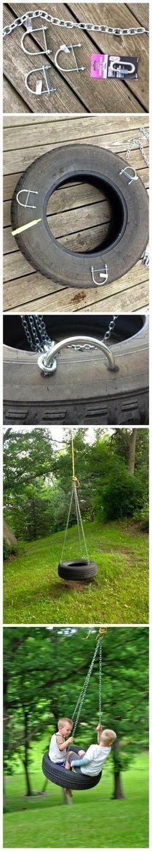 #DIY Tire Swing! #SummerFun