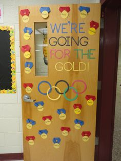 An Olympic Themed Classroom- Door, behavior chart, and bulletin board! Go for the Gold!