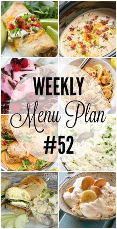 Weekly Menu Plan 52