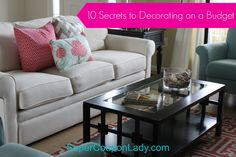 How to Decorate on a Dime: 10 Secrets to Decorating on a Budget http://www.supercouponlady.com/2013/09/how-to-decorate-on-a-dime-10-secrets-to-decorating-on-a-budget.html/