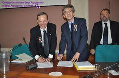 Murano ed Orlandi firmano la convenzione fra il Ministero dell'Istruzione, dell'Università e della Ricerca ed il Collegio Nazionale degli Agrotecnici e degli Agrotecnici laureati.