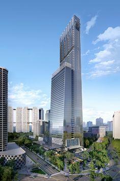 El Tanjong Pagar Centre de SOM será pronto la torre más alta de Singapur con 290 metros